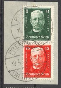 1927 Hindenburg Semi-Postal Se-Tenant, Mi. S 36 no faults, VF + used