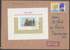 EAST GERMANY 1970 Registered cover - great franking.........................B371