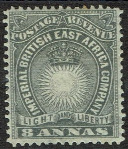BRITISH EAST AFRICA 1890 LIGHT & LIBERTY 8A GREY