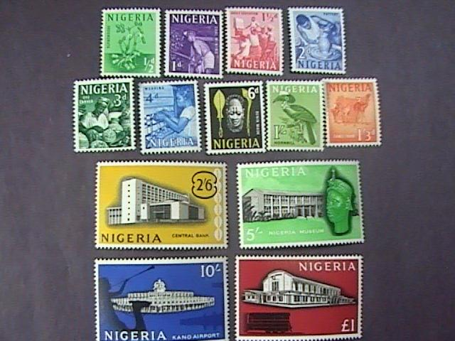 NIGERIA # 101-113-MINT/NEVER HINGED------COMPLETE SET-------QEII-------1961