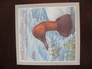 Canada 1986 duck stamp FWH2 MNH in Booklet as issued!