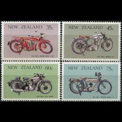 NEW ZEALAND 1986 - Scott# 846-9 Motorcycles Set of 4 LH