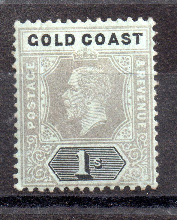 Gold Coast KGV 1920 1/- mint MH (olive back) SG79C WS3542