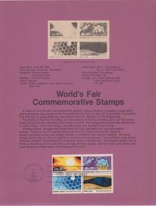US SP585 Knoxville World's Fair Souvenir Page #2009a