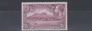 MONTSERRAT  1932  S G 92  2/6     PURPLE      MH