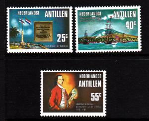 Netherlands Antilles MNH Scott #385-#387 Set of 3 First Gun Salute to US Flag...