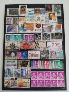 Lot Spain 1985-1994 used/unused