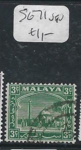 MALAYA SELANGOR  (P2206B) MOSQUE  3C  SG 71   VFU