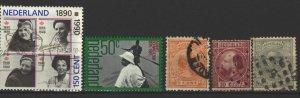 COLLECTION LOT # 3508 NETHERLANDS 5 STAMPS 1867+ CV+$10