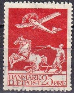 Denmark #C3  F-VF Used CV $72.50 (Z6298)