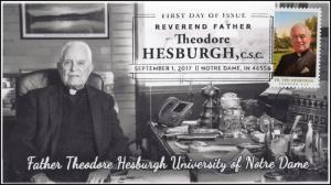 17-291, 2017, Father Theodore Hesburgh, FDC, Pictorial Postmark,