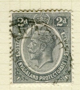 NYASALAND; 1921-33 early GV issue fine used 2d. value