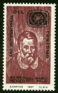 MEXICO C327 International Tourist Year - Marco Polo. MINT, NH. VF.