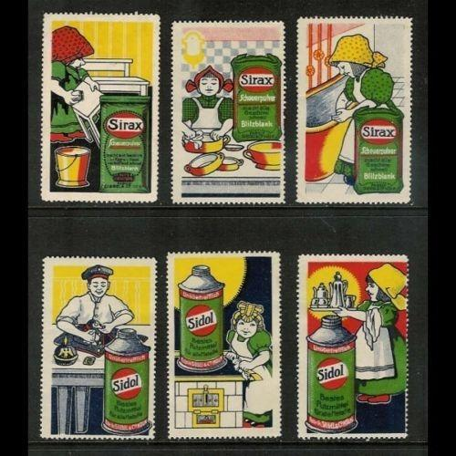 SIREX & SIDOL Advertising Poster Stamps