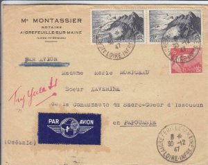 1947, Aigrefeuille-sur-Maine, France to Papua, See Remark (32220)