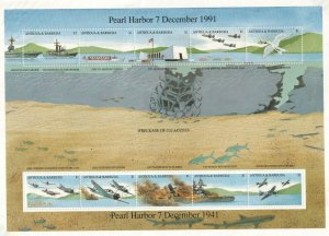 1991 ANTIGUA - SG:1585/94 -PEARL HARBOUR -  UNMOUNTED MINT