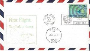 UNNY First Flight Vienna Austrian Airlines APR 1, 1969