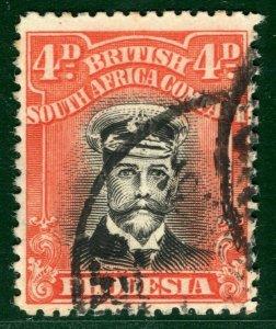 RHODESIA BSACo KGV Admiral SG.294 4d Orange-Vermilion (1922-23) Cat £50 EBLUE40