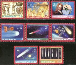 MONTSERRAT Sc#605-612 1986 Halley's Comet Complete Set OG Mint NH
