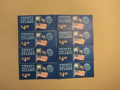 USPS Scott 2276a 22c 1987 Flag Over Fireworks 8 Books Of ...