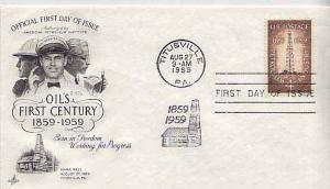 United States, First Day Cover, Petroleum