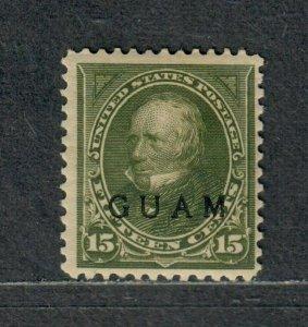 US Guam Sc#10 M/H/F-VF, Signed, Cv. $150