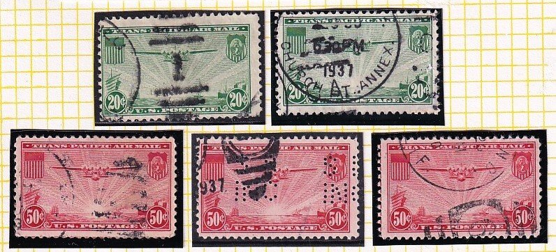 US STAMP BOB AIR MAIL USED STAMPS COLLECTION LOT #2