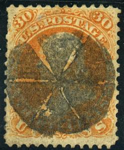 U.S. #71 Used VF Fancy Cancel