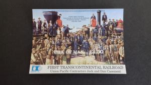 Isle of Man 1992 First Trans-American Railraoad Mint