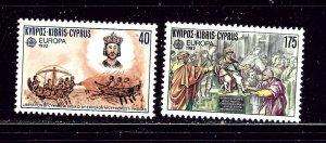 Cyprus 579-80 MNH 1982 Europa