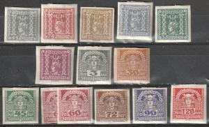 Austria Mint OGH Newspaper stamps