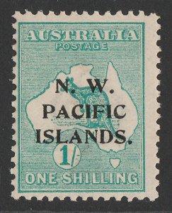 NEW GUINEA - NWPI 1915 Kangaroo 1/- green, 1st wmk, type a. MNH **.