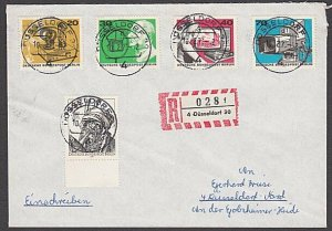 GERMANY 1973 Registered cover - nice franking...............................B470