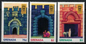 Grenada #2542-5* NH  CV $9.50  Jerusalem 3000 year Anniversary set & souvenir sh