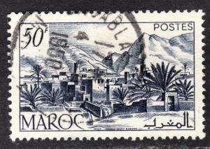 French Morocco Scott 260  VF used with a splendid SON cds.