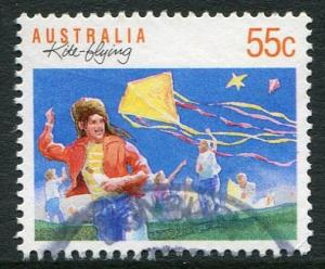 SPORTS SERIES I DEFINITIVES 1989 -  55c KITE FLYING USED