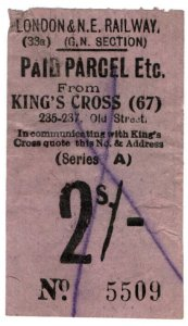 (I.B) London & North Eastern Railway (GN section) : Parcel 2/- (King's Cross)