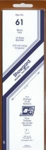 SHOWGARD BLACK MOUNTS 215/61 (15) RETAIL PRICE $9.75