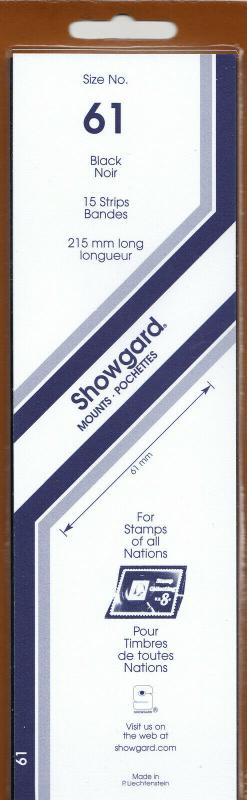 SHOWGARD BLACK MOUNTS 215/61 (15) RETAIL PRICE $9.75
