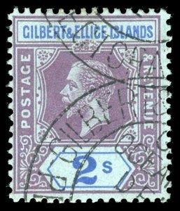 Gilbert & Ellice Islands 1912 KGV 2s purple & blue/blue VFU. SG 21. Sc 23.