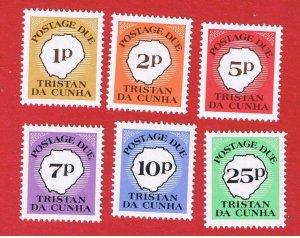 Tristan da Cunha #J11-J16  MNH OG  Postage Due  Free S/H