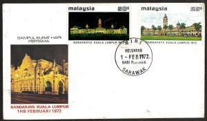 Malaysia SC#96-97 Kuala Lumpur Secretariat Building (1972) FDC