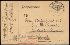 German WWI Turkey Navy Ship SMS Goeben MSP29 Feldpost Cover 62087