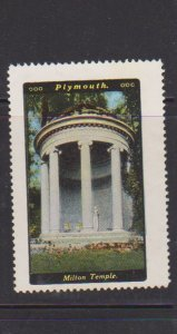 USA  PLYMOUTH MILTON TEMPLE  CINDERELLA STAMPS.LOT#178