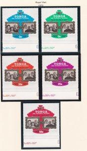 Tonga # 238-242, C68-72, CO28-30, Queen Elizabeth's Royal Visit, NH, 1/2 Cat.