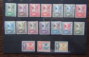 Gambia 1938 - 1946 set complete to 10s MM