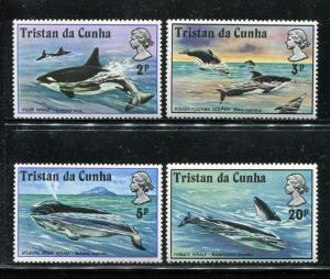 Tristan da Cunha 202-205, MNH, 1975. Marine Life. x29473