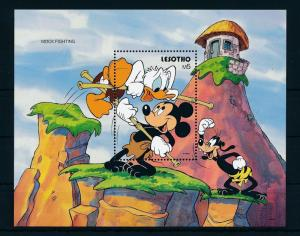 [22313] Lesotho 1991 Disney Mickey Mouse and Donald Duck mock fighting MNH
