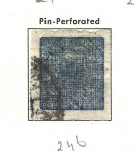 NEPAL 1903-1904 European Wove Paper;Pin Perf.  #24b USED