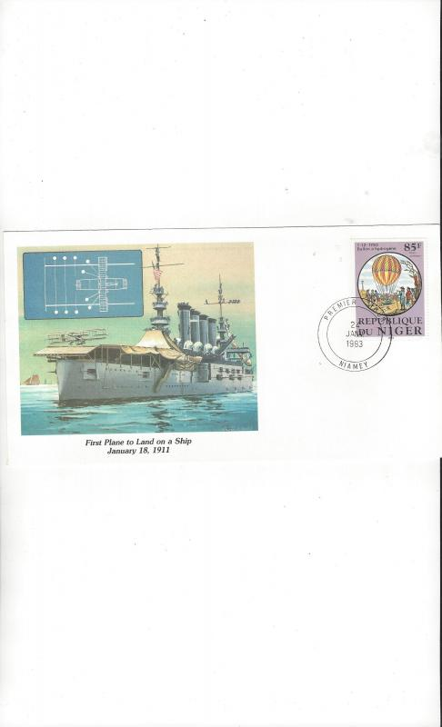 Niger.  Fleetwood Cachet of Man's Conquest of the Heavens 1983 FDC